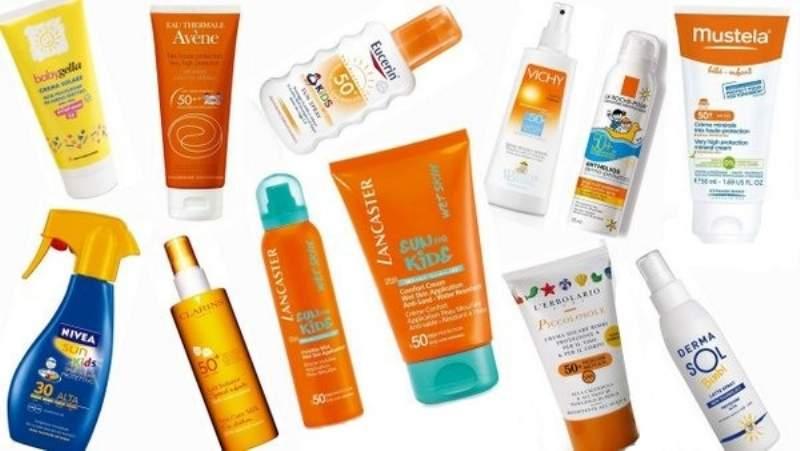 Crema solare per neonati e bambini